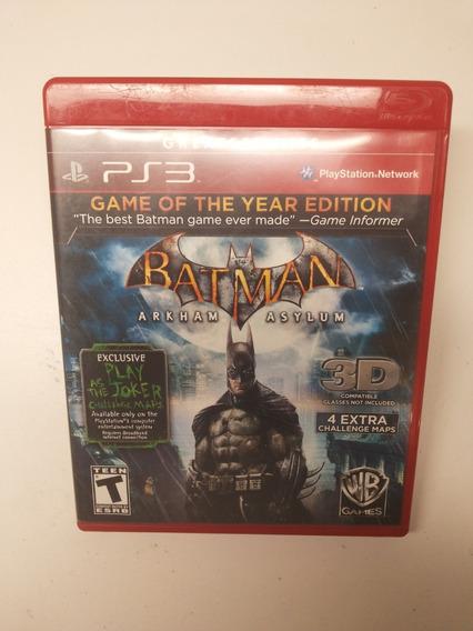 Batman Arkham Asylum Playstation 3 Ps3 Mídia Física