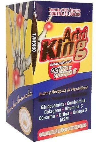 Artri King Frasco 100 Tabletas Ortiga Y Omega 3 Natural