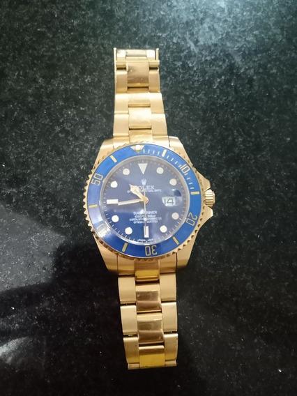 Relógio Rolex Submariner Clone Banhado A Ouro