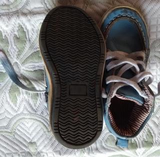 Tênis Infantil Polo Couro Dusk, Branco E Azul