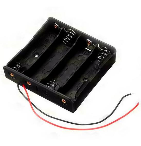 Suporte Case Caixa Porta 4 Pilhas Baterias 1.5 V