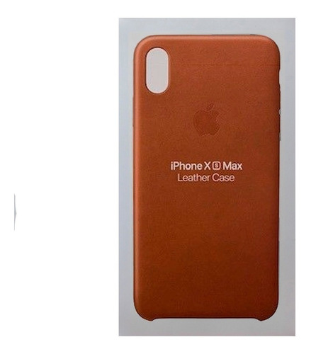 Protector Original Apple Leather Case @ iPhone XS Max Brown