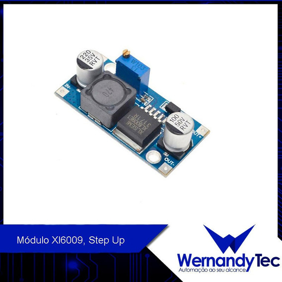 Módulo Xl6009, Step Up, Auto Bost 6v-35v