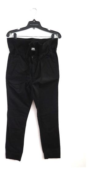 Pantalon Negro Gabardina Paula Cahen Danvers Tiro Alto 3