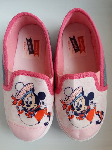 Tênis Disney Minnie Mause Baby Nº 20 Avon Original Rosa Cinz