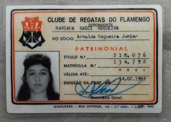 Carteira De Sócio - C. R. Flamengo - 1989