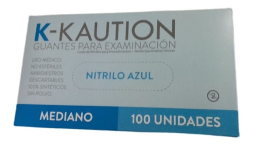 Guantes Nitrilo / Color Celeste / Caja X 100 Un.
