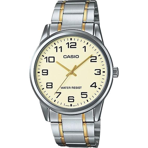 Relógio Casio Analógico Masculino Aço Mtp-v001sg-9budf
