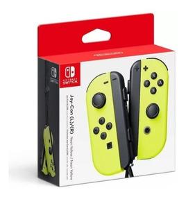 Nintendo Switch Joy-con Yellow Neon + Starter Kit Mario M Ed
