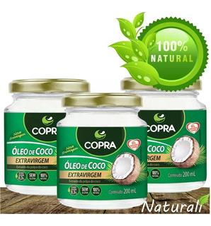 3 Unidade De Óleo De Coco Extra Virgem 200ml - Copra