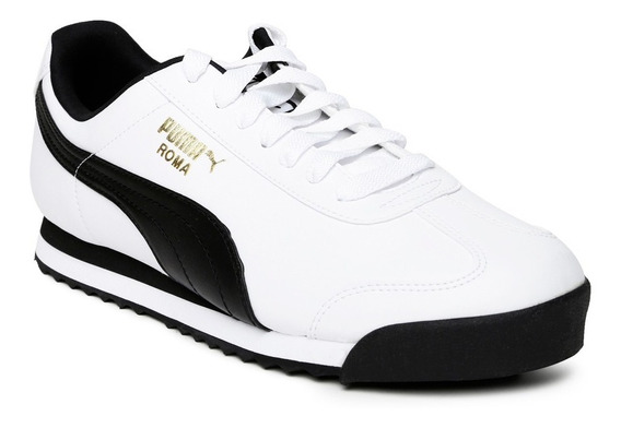 Zapatillas Puma Urbanas Roma Basic Blanco Negro Abc Deportes