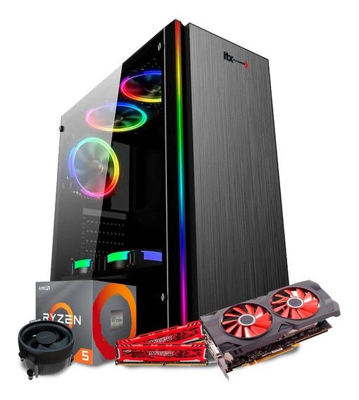Pc Gamer Ryzen 5 2600 Asus B450m (rx570 4gb) 8gb / Ssd 240gb