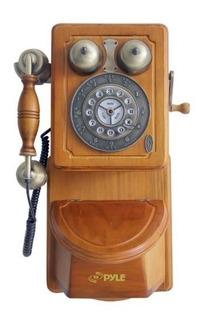 Pyle Prt45 Telefono Rural Antiguo De Pared Paquete Al Por Me