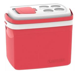 Caixa Térmica Tropical 32l Vermelha Com Acesso - Soprano