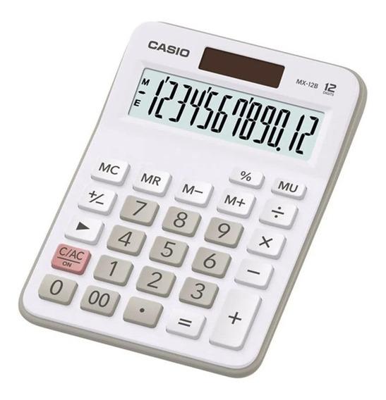 Calculadora De Mesa Casio 12 Dígitos Branca- Mx-12b-we