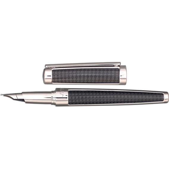 Caneta Tinteiro Pena- S.t Dupont - 400700 -fibra De Carbono