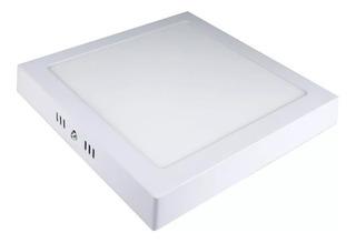 Plafon Panel Led 12w Blanco Frio Calido Cuadrado Aplique