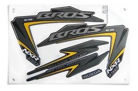 Kit Jogo Adesivo Honda Nxr150 Es Bros 2012 Preta