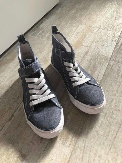 Zapatillas Botitas De Tela Sin Uso Marca H &m Talle 32