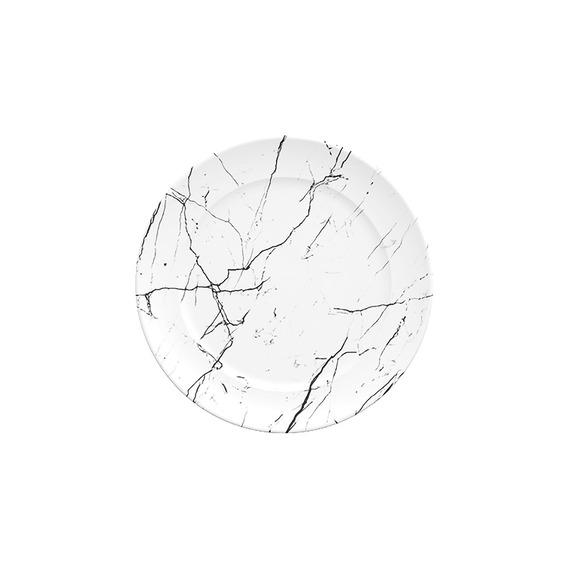 Prato Sobremesa Em Porcelana Gemer Versa 22cm