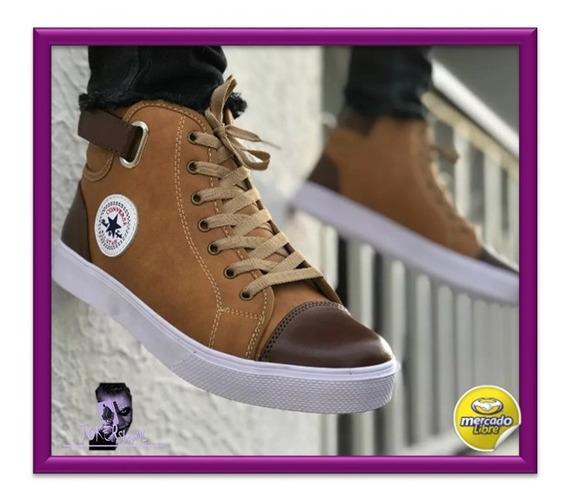 Zapatos Cuero Tipo Converse Botin Nuevos