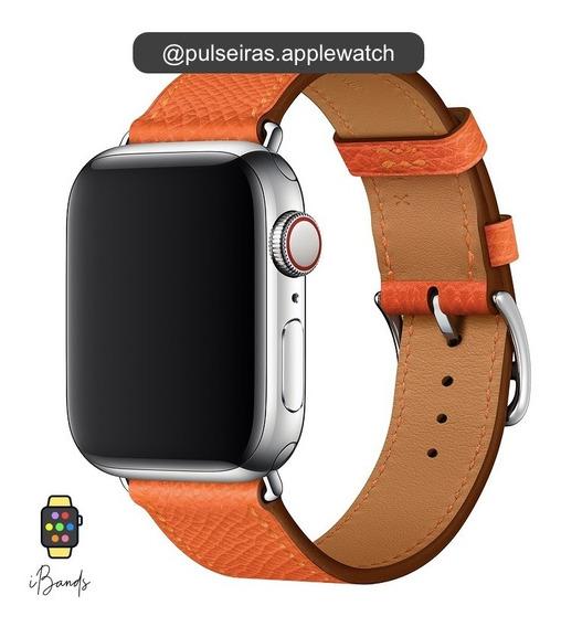Pulseira Couro Apple Watch Simple Tour Logo Hermès