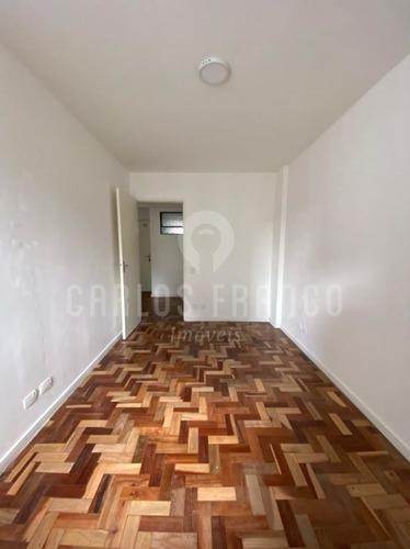 Imagem 1 de 15 de Apartamento Reformado De 42m², Com Quarto, Sala, Cozinha, Banheiro, Garagem Na Bela Vista - Cf67998