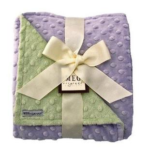 Meg Original Minky Dot Baby Girl Blanket Lavendergreen 321