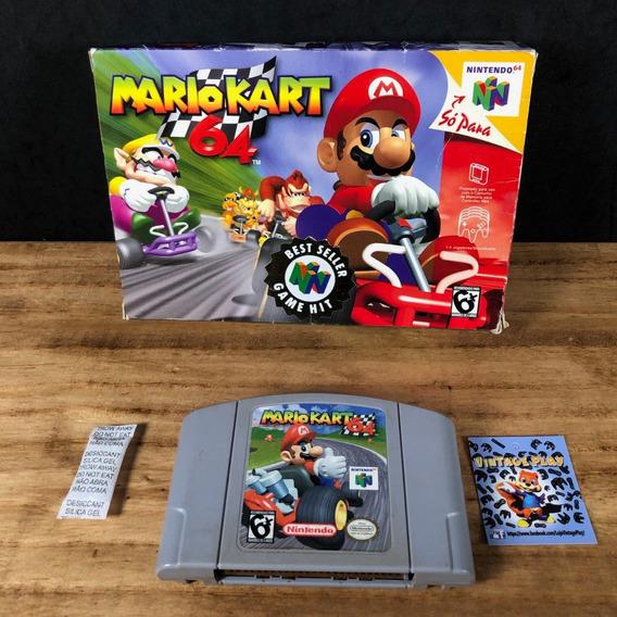 Mario Kart 64 Original C/ Caixa!! P/ Nintendo 64!!