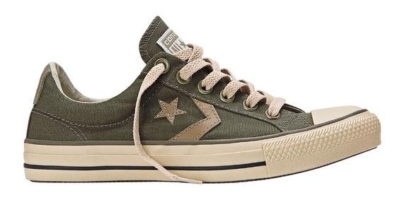 Zapatillas Converse Star Player Ev Verde Militar !!!