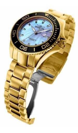 Relógio Invicta Pro Diver 23071, Ouro 18k, Madrepérola