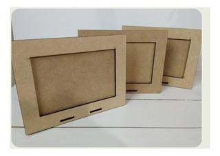 Portarretatos Lisos En Fibrofacil, Para Foto De 10x15. X30u