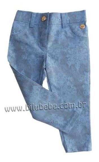 07.711 - Calça Jeans Macio E Estampado Para Meninas - Nini