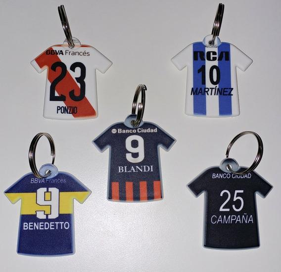 Llaveros Camiseta Con Diseños De Los Equipos Favoritos