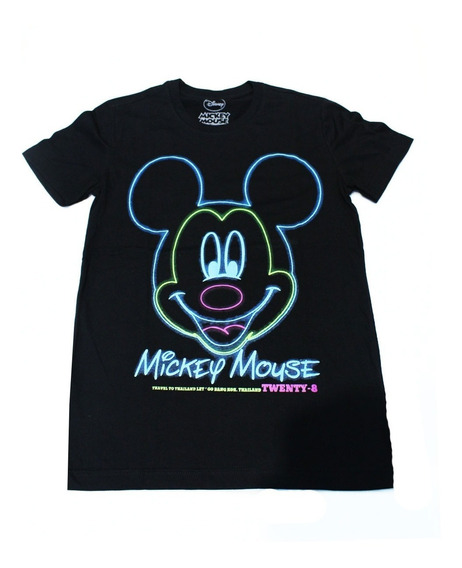 Remera Disney Mujer Mickey Mouse Neon (0053)