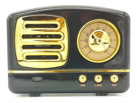 Rádio Retro Antigo Mini Caixinha Bluetooth Pen Drive Usb Fm
