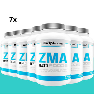 7x Pré Hormonal Testosterona Zma Testo- 120 Cáps