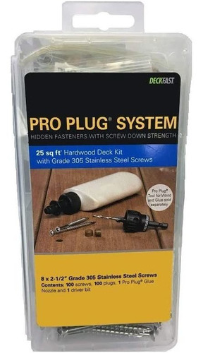 Imagen 1 de 4 de Pws   8pro Plug Sistema Madera Cubierta Kit Ipe 100pcs