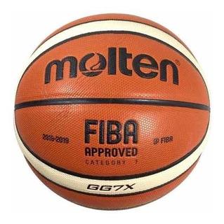 Pelota De Basquet Molten Gg7 X Basket Oficial Lnb Cuero