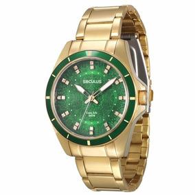 Relógio Seculus Feminino Dourado Aço - 28431lpsvda2