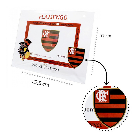 Quadro De Vidro 10x15 Flamengo