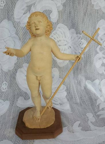 Imagen 1 de 1 de Niño En Madera 25 Cm. Imágenes Escultura Tallado