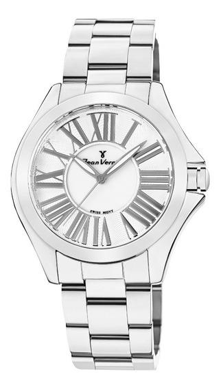 Relógio Analogo Jean Vernier Jv1124 Branco