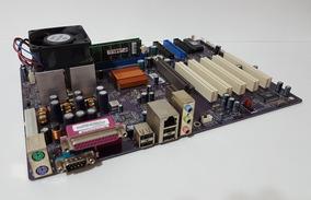 Kit Placa Mãe Ecs K7s5a Pro + 1gb Ram + Amd Athlon + Brinde