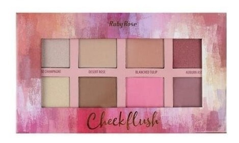Ruby Rose Paleta Cheek Flush (blush/iluminador/contorno)