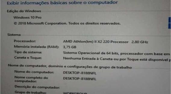 Computador Pc Athlon X2 2.8ghz 4gb Ddr3 Hd 1tb Sata3 7200rpm