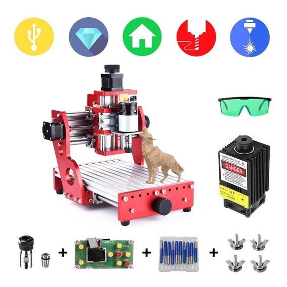 Maquina Cnc Grabado Corte 1419 Alu + Laser 1000mw + Offline