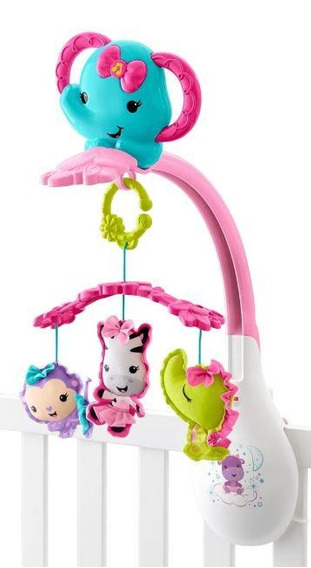 Fisher Price Móvil Músical 3 En 1 Amigos De La Naturaleza, R