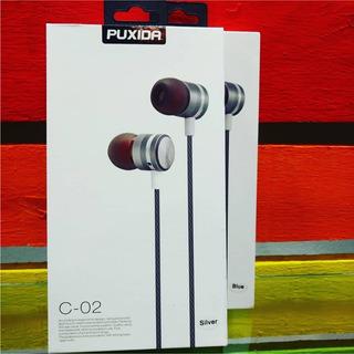 Auricular Puxida C 02 In-ear Gris Reforzado Con Microfono