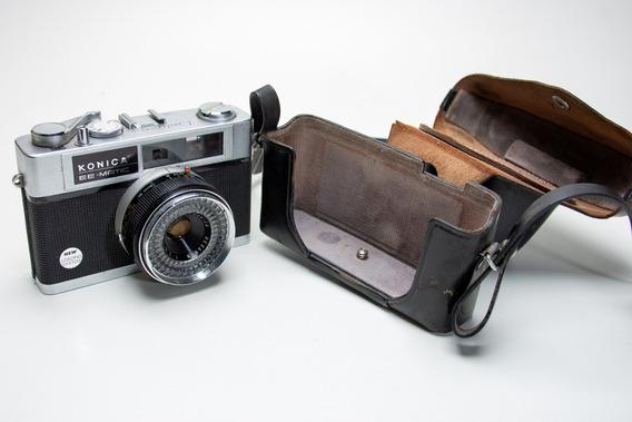 Câmera Antiga Konica Ee Matic - Leia O Anuncio